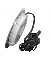 Mini faretto LED da incasso/superficie per mobili, tondo, 1.5W, 12V DC luce neutra, cromato
