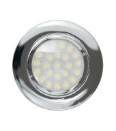 Mini faretto a LED da incasso 4W, luce neutra, IP44, cromato  - illuminazione a Led  - arestore