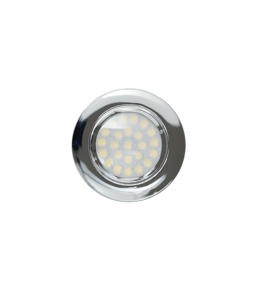 Mini faretto a LED da incasso 4W, luce neutra, IP44, cromato  - illuminazione Led  - arestore
