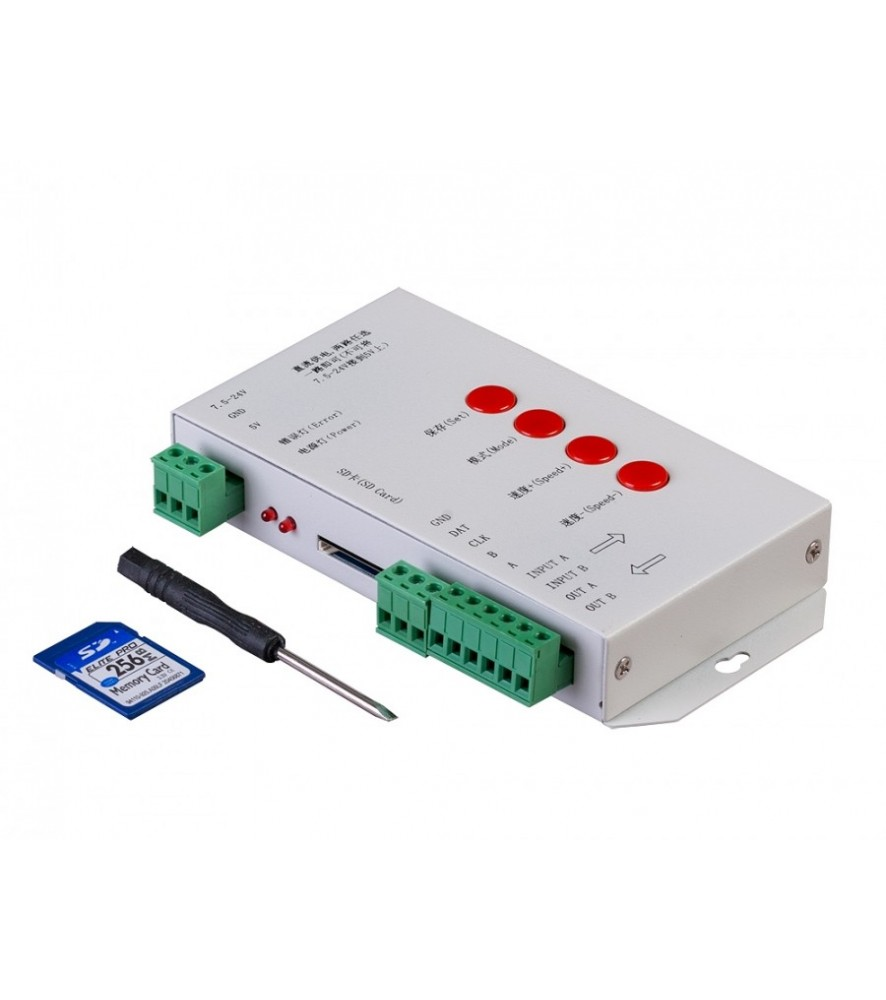Controller con SD card per illuminazione LED digitale, 1-porta, 5-24V DC  - illuminazione Led  - arestore