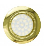 Mini faretto a LED da incasso 4W, luce neutra, IP44, oro
