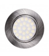 Mini faretto a LED da incasso 4W, luce neutra, IP44, nichel satinato