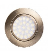 Mini faretto a LED da incasso 4W, luce neutra, IP44, ottone satinato