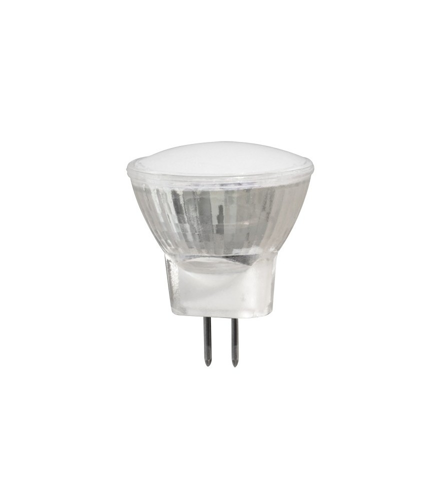 Faretto a LED 2W, MR11, 2700K, 12V AC / DC, luce calda, SMD 2835