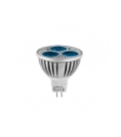 Faretto a LED 3x1W, MR16, 12V AC / DC, luce blu